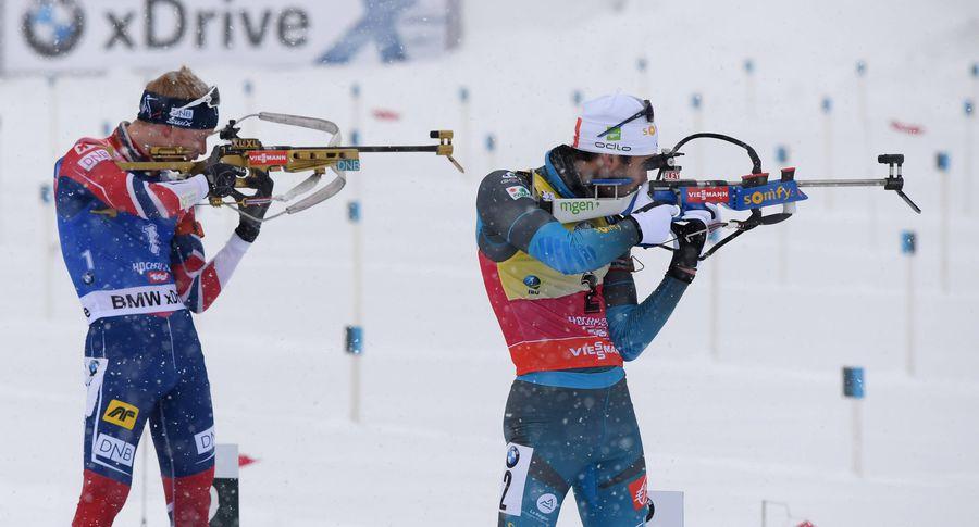 Биатлон. Норвежец Йоханнес Бе одержал победу масс-старт Кубка мира, Шипулин— 15-й