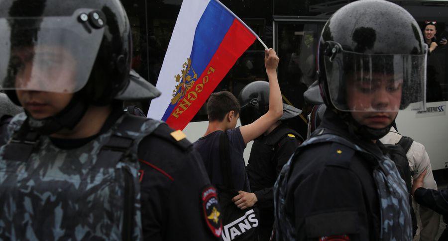 ВПетербурге наакции взащиту мусульман задержано неменее 100 человек