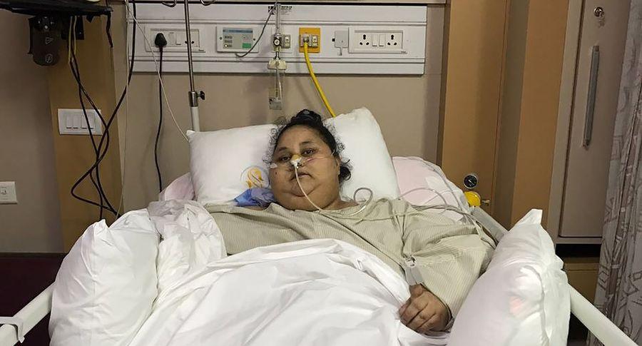 Появилось видео сдамой, которая похудела на245 килограммов