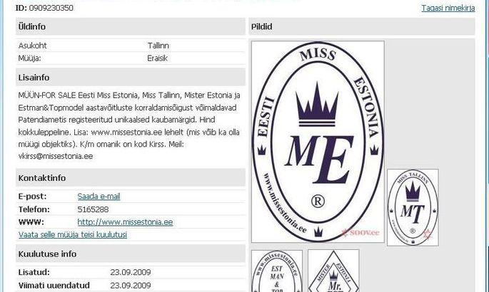 a49177a2180 Eesti Miss Estonia kaubamärk läks müüki - Meedia - Elu24