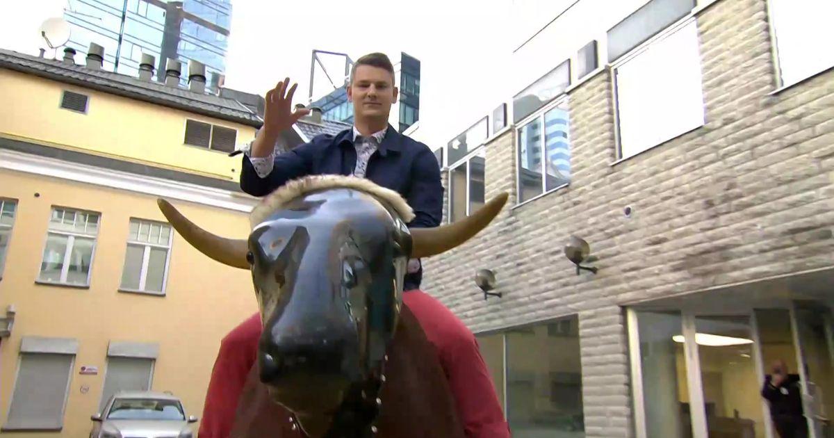Jüri Butšakov ja Artjom Savitski proovisid otse-eetris rodeo härga taltsutada