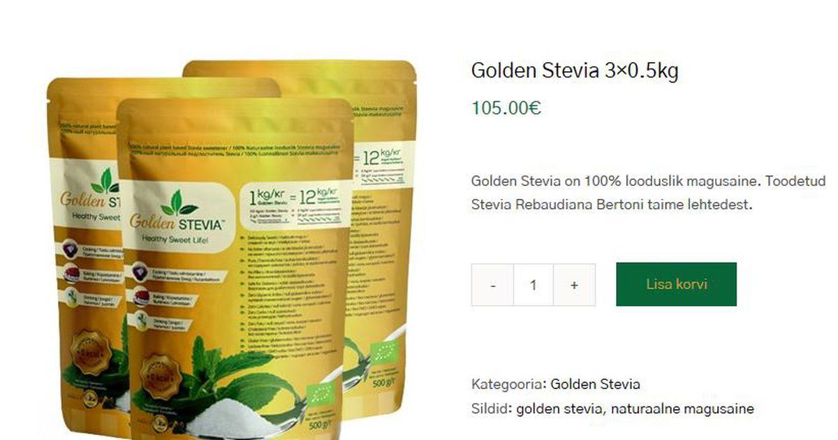 Tarbija petmine: tärklisest saadud ainet müüakse stevia ekstrakti pähe