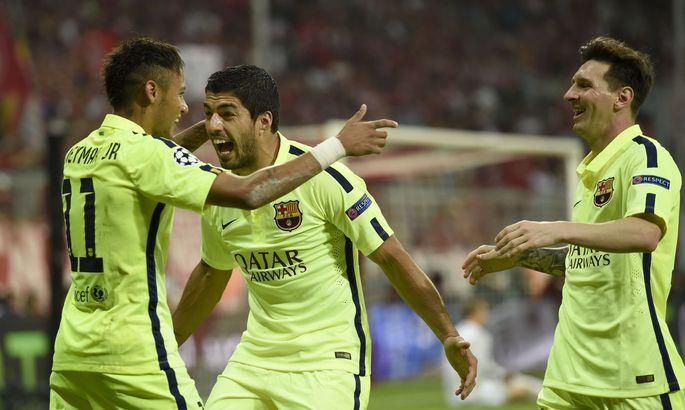 b33b05a5680 Kui Lionel Messi (paremal) on FC Barcelona ridades Meistrite liiga võitjaks  kroonitud hooaegadel 2005/06, 2008/09 ja 2010/11, siis Neymari (vasakul) ja  Luis ...