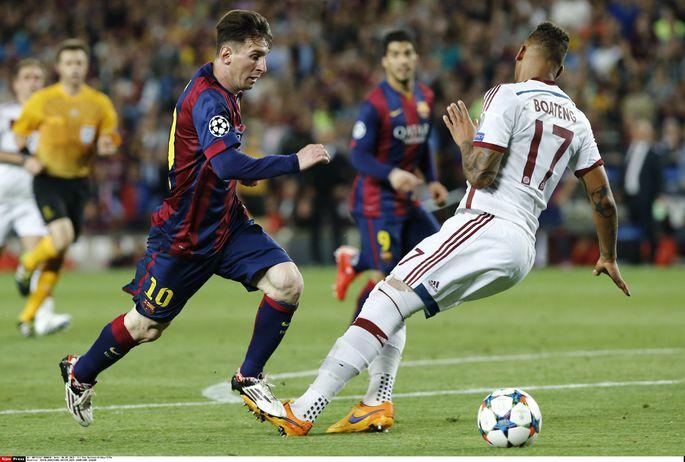 c95c1f55eb6 Lionel Messi (vasakul) pani Bayerni kaitsja Jerome Boatengi eile stiilselt  selile ja tõstis seejärel palli ilusa kaarega üle Manuel Neueri. Foto:
