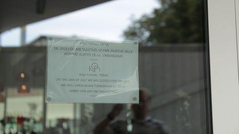 NOA restoran suleti ajutiselt toidumürgituse tõttu.