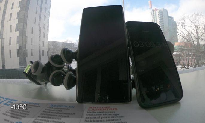 c37aa33eb76 Videotest! iPhone vs Samsung: kumma aku kärvab pakases kiiremini ...