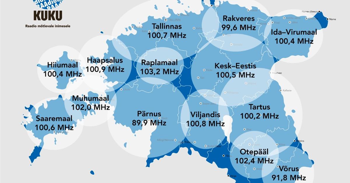 Postimees Grupi raadiojaamad Elmar ja Kuku said uued levialad