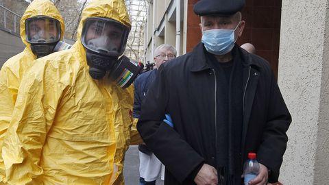 Ukrainas viidi läbi õppus, kuidas käituda koroonaviiruse avastamise korral.