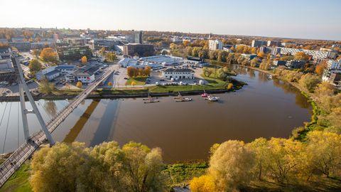 Vaade Tartu linnale.
