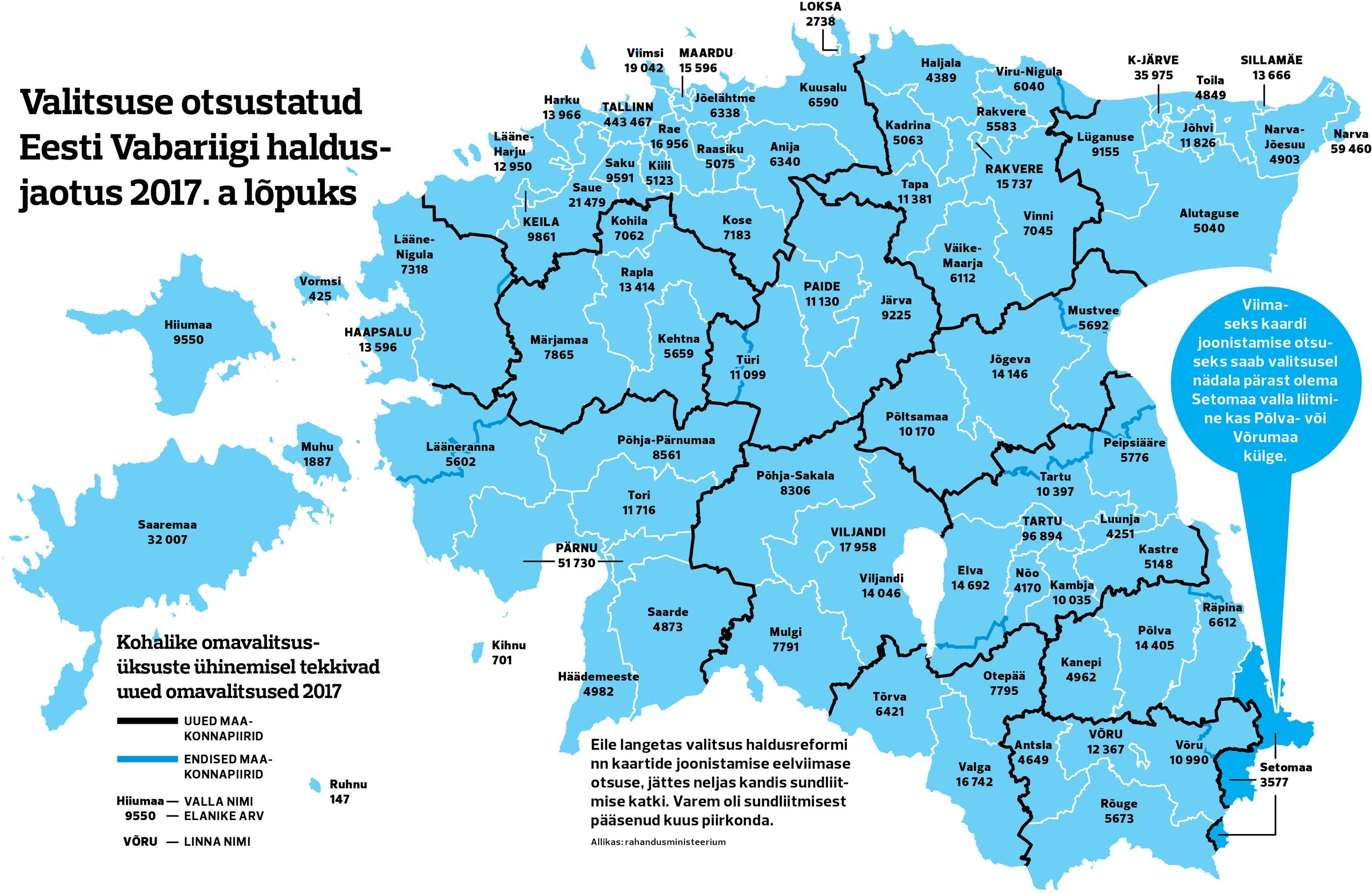 Eesti uus haldusjaotus