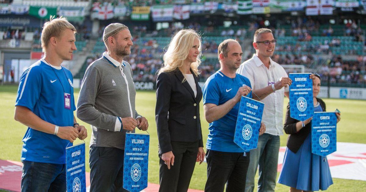 Piltuudis: Eesti ja Põhja-Iirimaa vahelisel jalgpalli EM-i valikmängul peeti Rakveret meeles