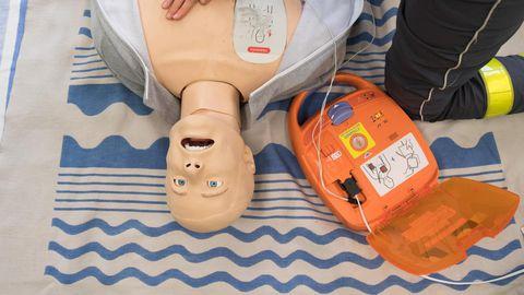 AED-elustamisaparaat.