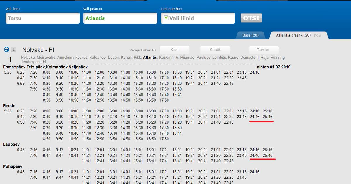 2edf2111907 Piltuudis: Tartu bussidel on ööpäevas 26 tundi - Uudis.eu