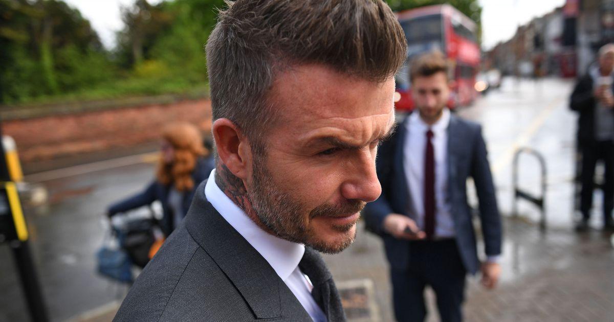 dda07505758 Pildid kohtust: David Beckhamile määrati autoroolis telefoni kasutamise  eest pooleaastane sõidukeeld - Elu24